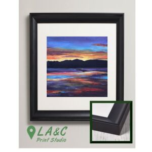 Kippford Scotland sunset fine art framed print