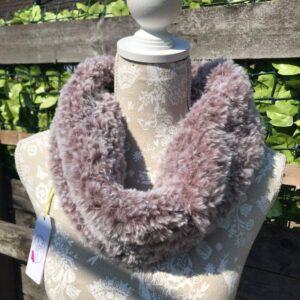 Handmade Faux Fur Cowl in Mink