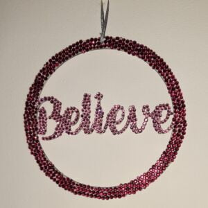 Diamante Embellished quote wall hanging