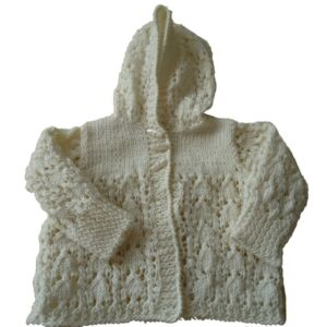 Prem baby lacey hooded jacket-bamboo