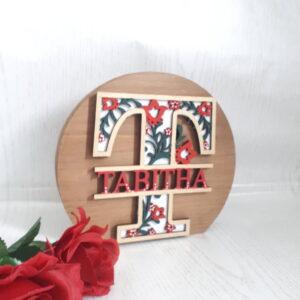 Floral Wooden Decor for girls bedroom