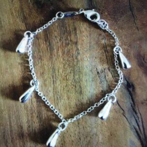 Sterling silver tear drop bracelet