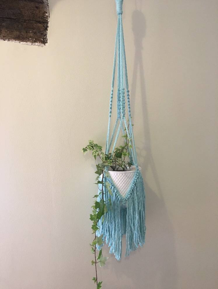 Recycled Cotton Fringed Plant Hanger