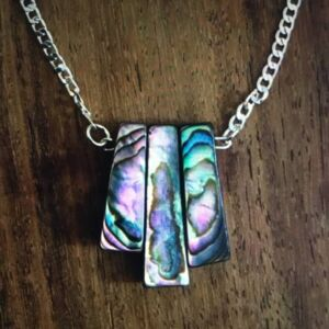 Abalone shell and sterling silver necklace
