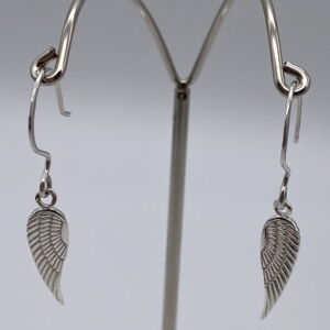 925 Sterling Silver Angel Wings Earrings - UK