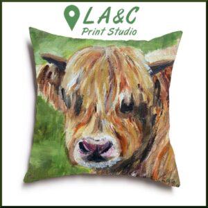 Highland Cow cushion Alexander
