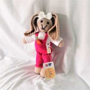 Handknitted Baby Bunny - Carrotfield Girl Knitted Soft Toy