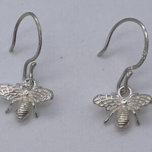 Handmade Sterling Silver Bee Shaped Earrings by Uspoke Artisan Jewellery