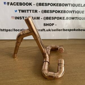 Quirky Hand Crafted and Unique Tablet / iPad Copper Pipe Holder by Bespoke Bowtique