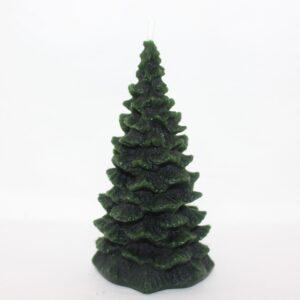 Handmade Green Christmas Tree beeswax candle