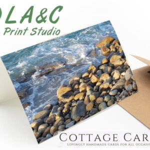 Greetings Card Rocky Shore beach sea Cornwall