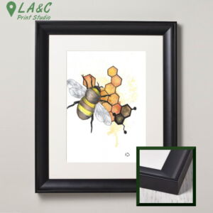 Watercolour bumble bee framed fine art print studio