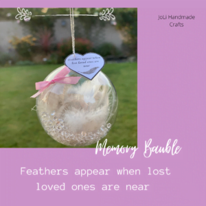 Memorial Bauble | Little Keepsake | Feathers appear when loved ones are near