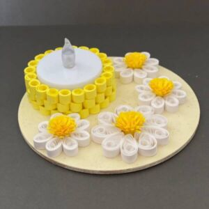 Handmade Tea Light Holder | Paper Quilling | Daisy Flower