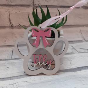 Personalised Name Pet Memorial Christmas Tree Decoration