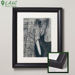 Only An Elephant Needs Ivory   African Bush Elephant charcoal and pencil print