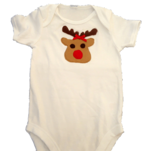 Reindeer applique bodysuit