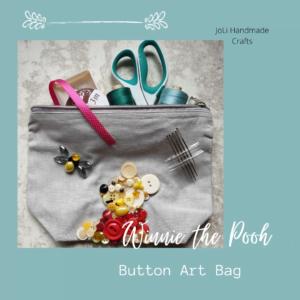 Disney Inspired Button Art Winnie the Pooh Bag   Handmade