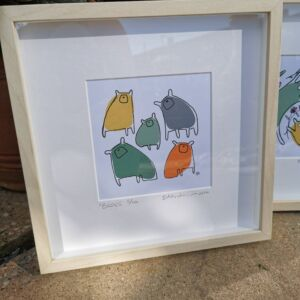 Colourful bears birch frame 4