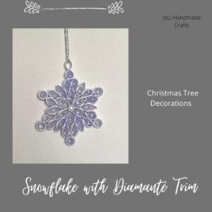 Handmade Christmas Snowflake Tree Decoration