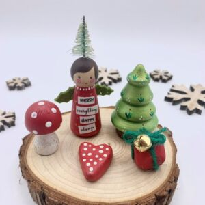 Peg Doll Christmas Decoration