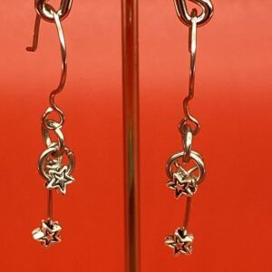 Handmade Christmas Star Stainless Steel Earrings