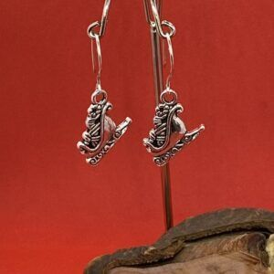 Santa's Sleigh with Sterling Silver Ear Wires Christmas Earrings