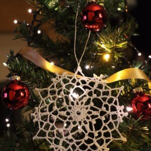 Crochet Christmas Snowflake Ornament (Various Designs) - Design 9
