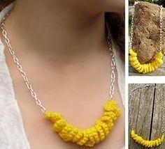 Crochet Corkscrew Pendant Necklace