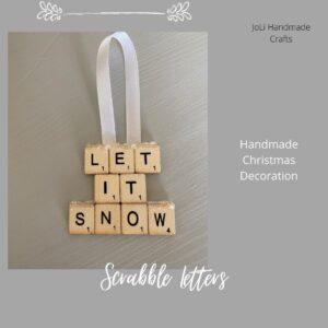 Handmade Christmas Ornament   Let is Snow