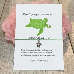 Your Turtley Amazing Wish Bracelet Gift