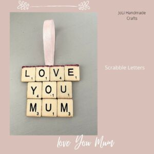 Scrabble Art | Love You Mum | Handmade