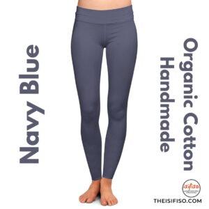 Navy Blue Organic Cotton Leggings