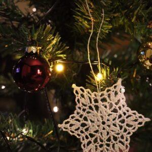 Crochet Christmas Snowflake Ornament (Various Designs) - Design 4
