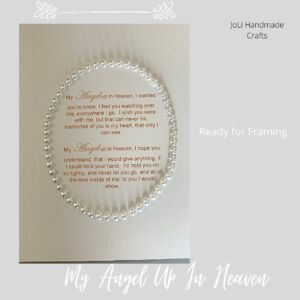 My Angel Up In Heaven Quote | Handmade