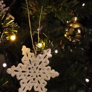 Crochet Christmas Snowflake Ornament (Various Designs) - Design 2