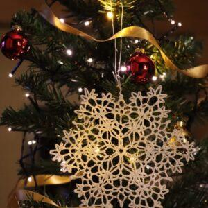 Crochet Christmas Snowflake Ornament (Various Designs) - Design 10