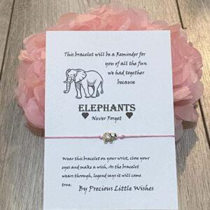 Elephant wish bracelet for a special Friend