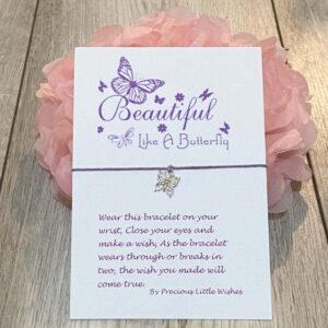 Beautiful Like A Butterfly wish bracelet