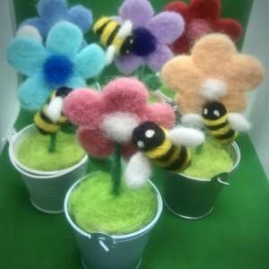 Mr Buzzy bee and his friends.