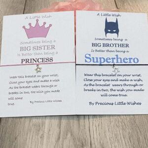 Big brother & Big sister bracelet set