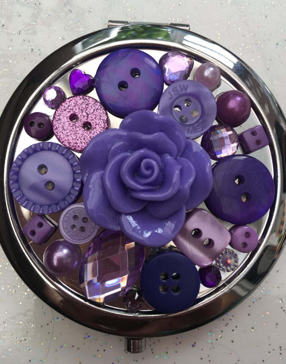 Beautiful handbag/compact mirror