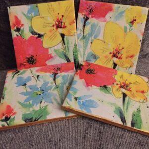 Spring time coaster set