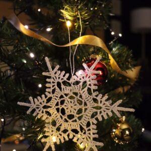 Crochet Christmas Snowflake Ornament (Various Designs) - Design 1