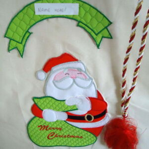 Large Personalised Embroidered Santa Sack