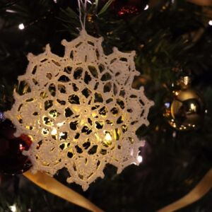 Crochet Christmas Snowflake Ornament (Various Designs) - Design 8