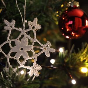 Crochet Christmas Snowflake Ornament (Various Designs) - Design 6