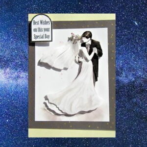 Cottage Cards - Handmade Wedding Card - The First Dance - 3D decoupage