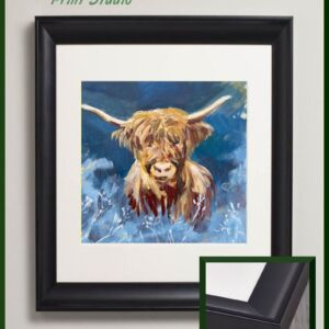 frosty morning highland cow acrylic painting