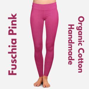 Fuschia Pink Organic Cotton Leggings